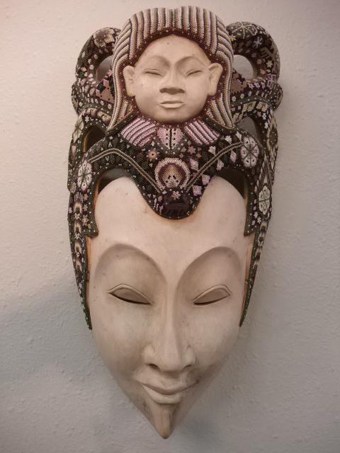 Mask Bali Huichol Tiny Beaded