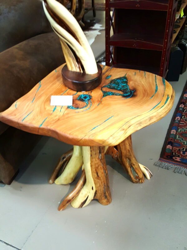 Turquoise Inlay Side Table #6