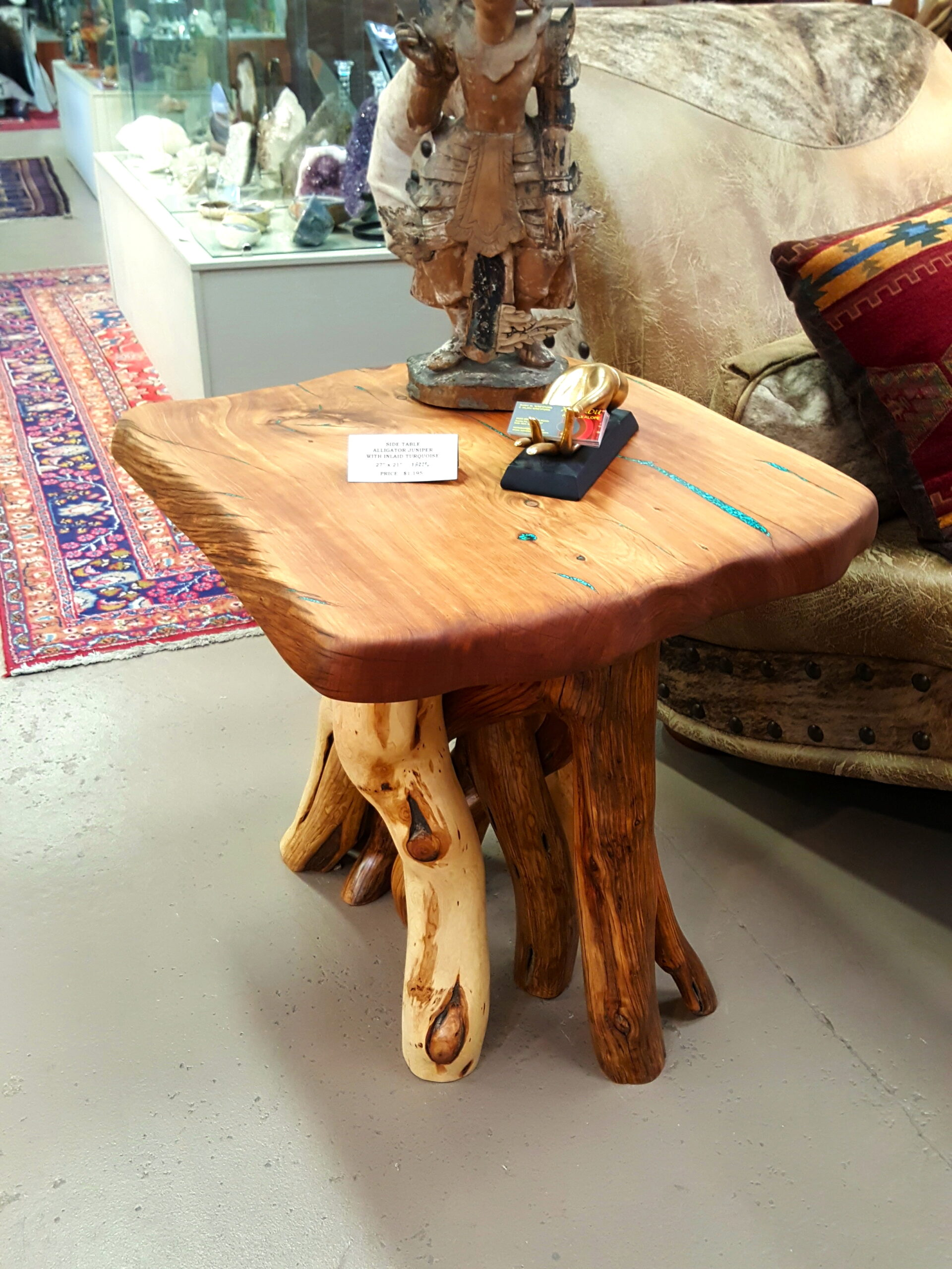 Turquoise Inlay Side Table #1