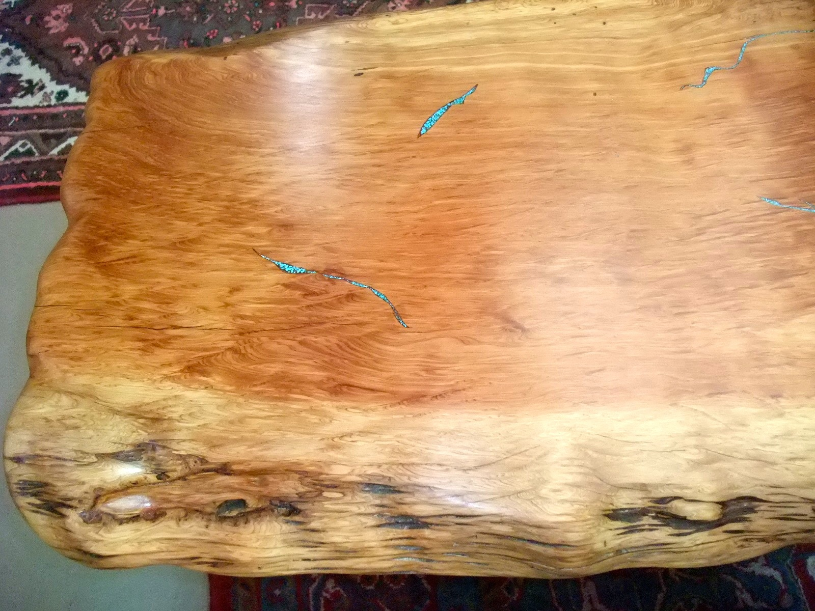 Turquoise Inlay Side Table #8