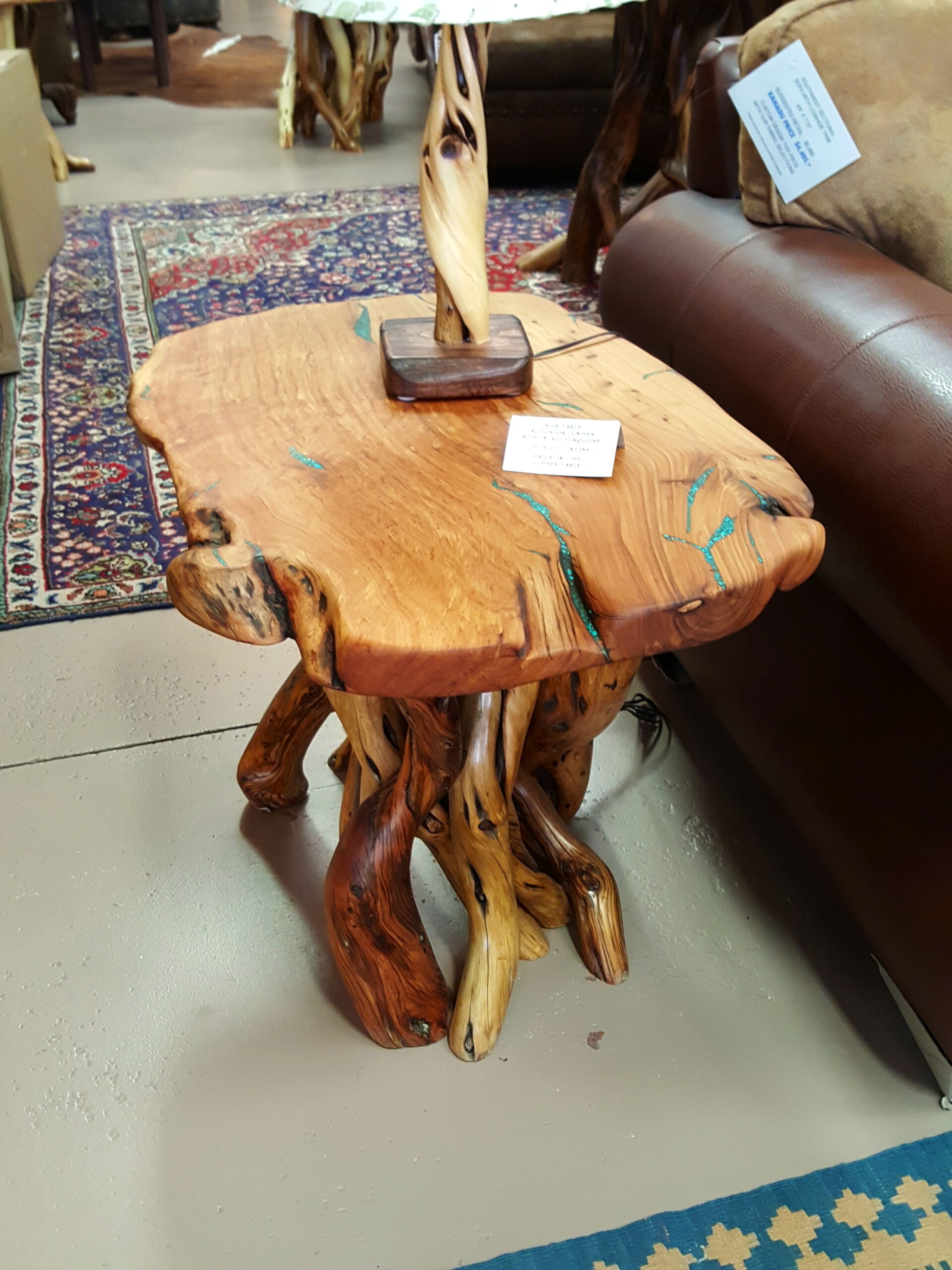 Turquoise Inlay Side Table #5