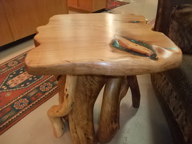 Turquoise Inlay Side Table #7