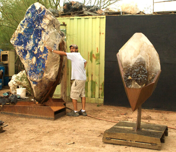 Azurite Sculpture