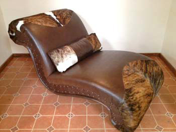 Cowhide Chaise Lounge #3