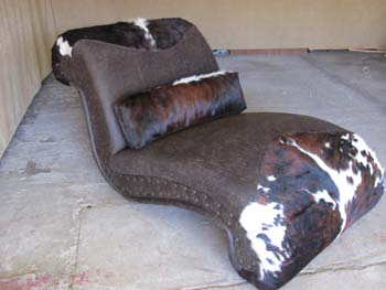 Cowhide Chaise Lounge #2