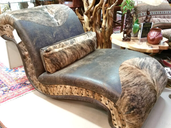 Cowhide Chaise Lounge #1
