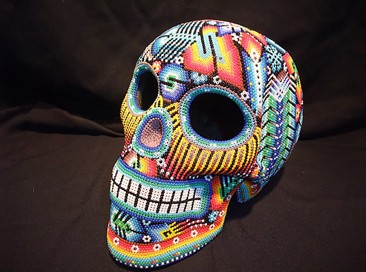 Skull Huichol Beaded