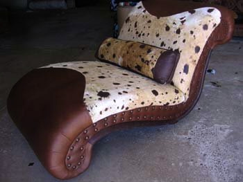 Cowhide Chaise Lounge #4