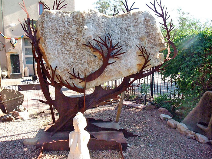 Arkansas Quartz Crystal Slab - Tree of Life