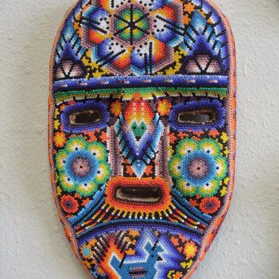 Mask Gecko Huichol Beaded